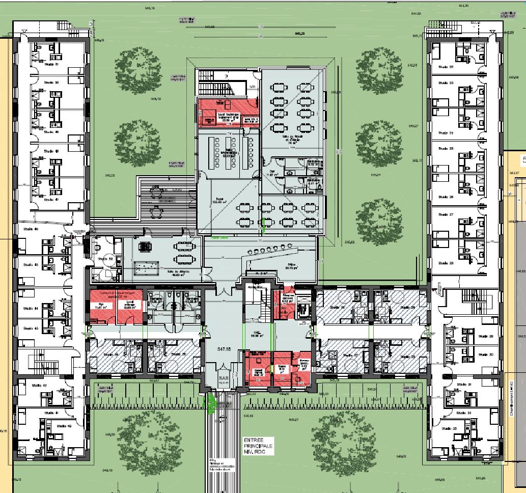 Plan de la maison des alternants à Oyonnax